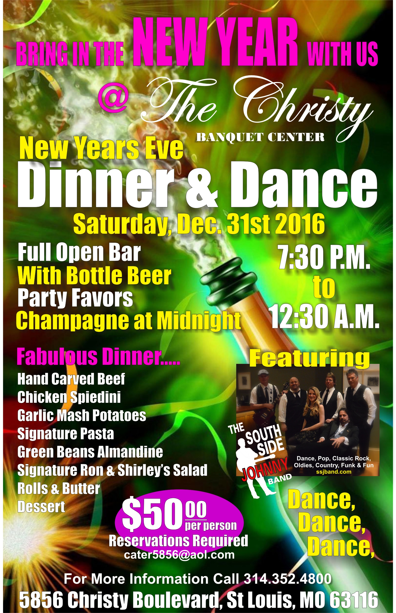 New Years Eve Dinner & Dance, St. Louis Banquet Hall, Open ...