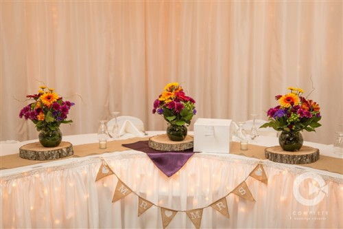 Wedding Reception Table Setup at The Christy