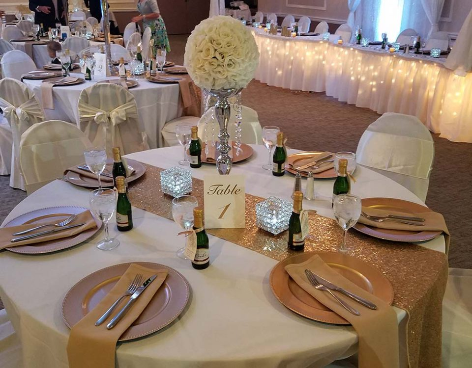Guest Table Setup, The Christy