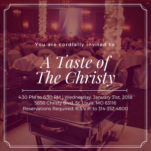 A Taste of The Christy, January Tasting Event