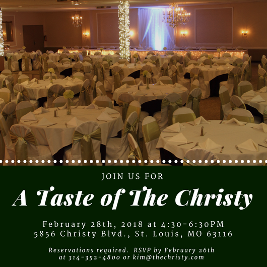A Taste of The Christy, February Event