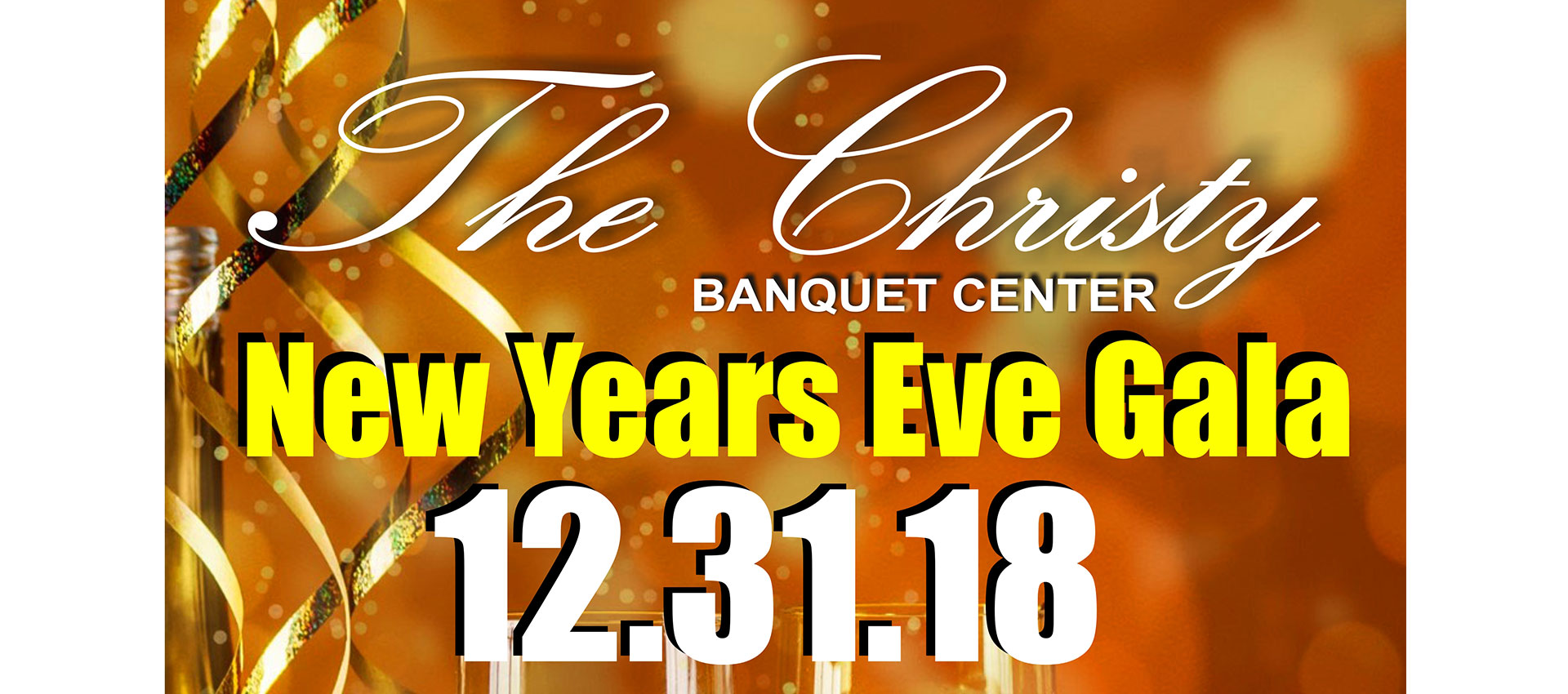 The Christy New years eve gala flyer